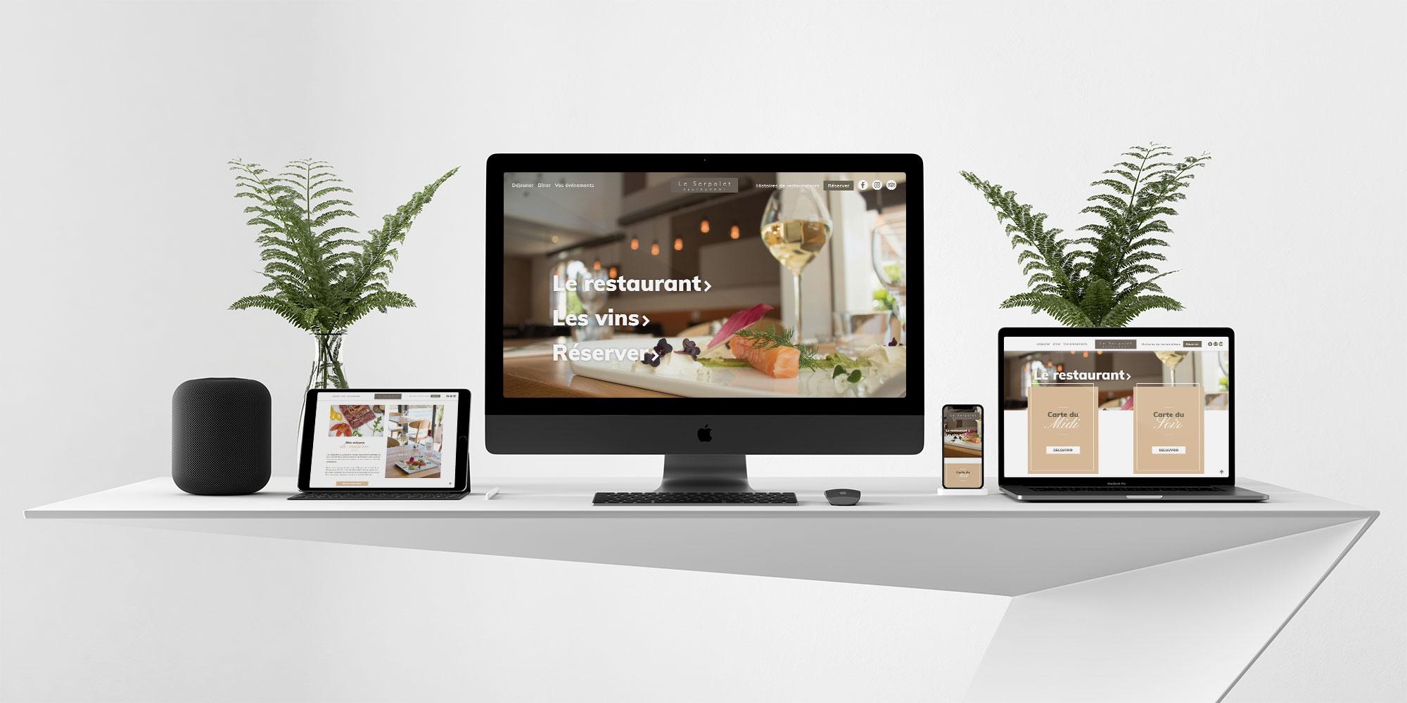 Refonte site internet<br/> pour le restaurant Le Serpolet sur Pessac